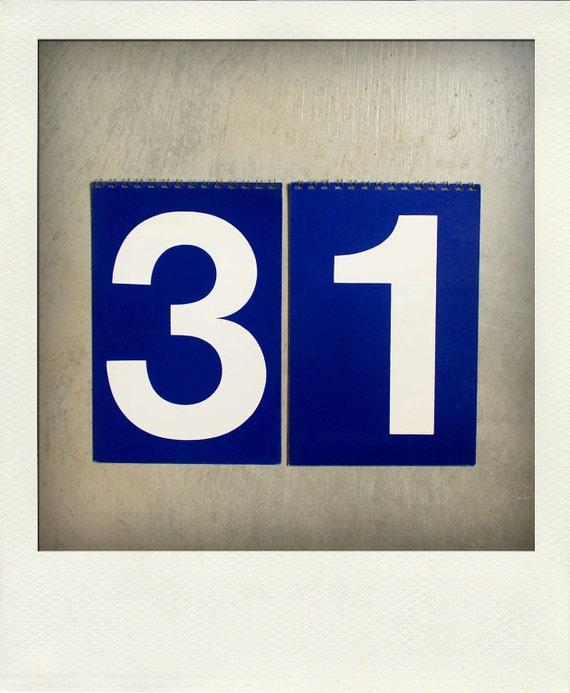 Vintage Perpetual Flip Calendar - Large Set of Grocery Store Price Sign Numbers / 0 - 9