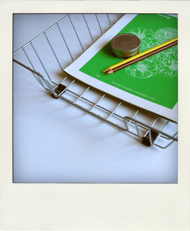 Wire desk organizer basket tray size 2 - Wire desk organizer ...
