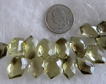 SALE  Unusual Hexagaon Shape Unique Beautiful Faceted Cognac Quartz 16 stones