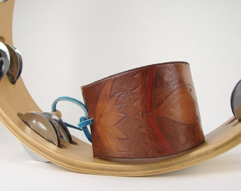 Mandala Leather Cuff