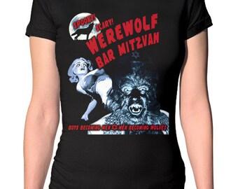 Werewolf Bar Mitzvah Funny Werewolf Shirt - Jewish Shirt - Hanukkah Shirt- Jewish Humor - Lycanthrope- Wolfman - Gothic Shirt - Jewish Gift