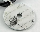 Upcycled Washer Pendant - Dandelion
