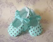 Pixie Toes, Aqua Dots, Soft Baby Shoes