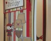 HANDMADE Card/HAPPY BIRTHDAY/Boys/Pirates/Treasure