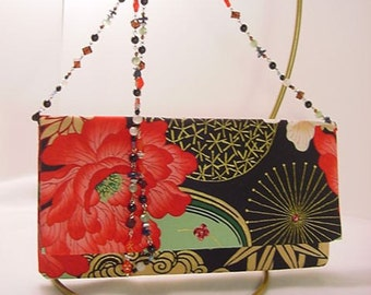 Lady Yang Clutch with Beaded Shoulder Strap / Bridesmaid Gift