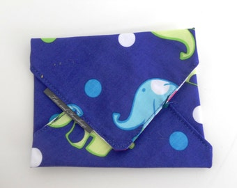 Elephants and Dots  Eco-Friendly Sandwich Wrap / Choice of Lining