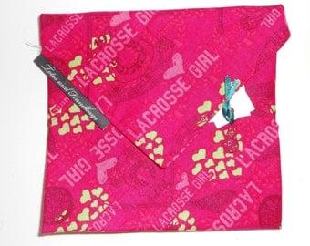Girls Pink Lacrosse MEDIUM Eco-Friendly Sandwich Wrap