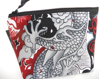 Dragon Tatsu Make Up Bag / Coin Bag / Spa Bag / Cell Phone Bag / Organizer