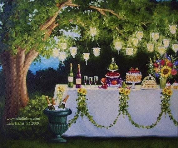 8x10 Those Summer Nights... Fine Art Giclee Print by LARA