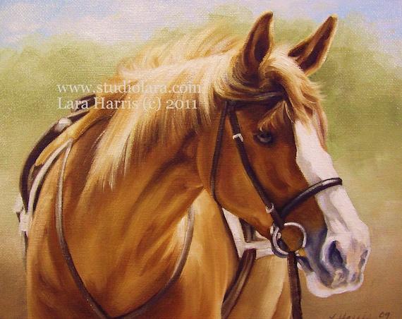 Custom VINTAGE Pet Portrait Painting in Oil Lara (2) 24x36 Dog Horse FREE SHIPPING