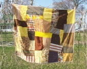 SALE Crazy On You Vtg.  1980 Colorful Handmade Crazy Quilt Throw Signed and Dated Home Decor Collectible