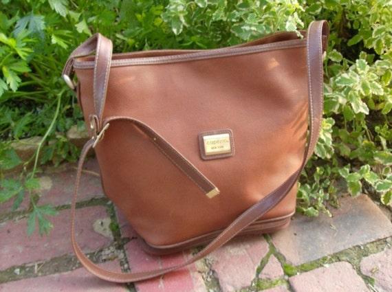 IF YOU LOVE ME Vtg. 80's Capezio Bucket Style Shoulder Bag Crossbody/Messenger Bag