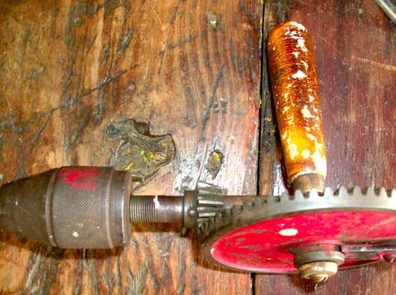 hurdy gurdy man manual hand drill antique 1940s