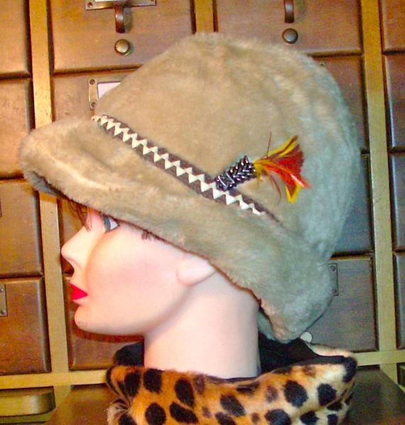 FUNKY Cold MEDINA Fedora / Vintage 60's / Funky Faux-Fur