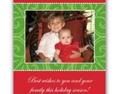 A Very Merry Holiday Photo Card, Custom, Printable, Digital