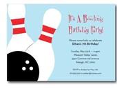 Bowling birthday party invitation, printable