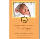 Little Lion Birth Announcements...Custom, Printable Digital File
