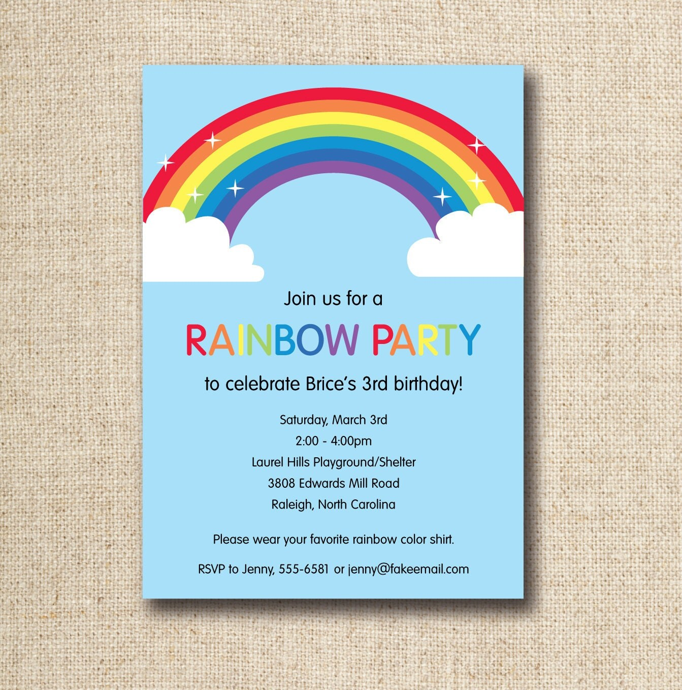 rainbow birthday party printable invitation by lilygirlpaper, Birthday invitations