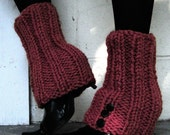 Leg Warmers with Spat Style with Buttons or Pick Your Color