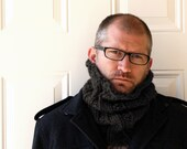Neckwarmer or Cowl Charcoal Gray, Men Unisex -   Pick Your Color