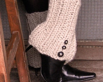 Bootie Legwarmers with Spat Style Buttons or Pick Your Color