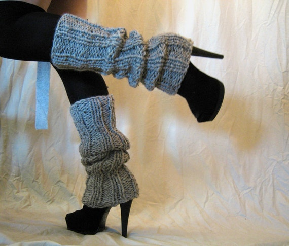 Leg Warmers Gray Ultra High Marble Gray Or Pick Your Color