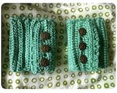 Mint Green Buttoned Wristlets