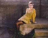 Hand Painted Silk Chiffon Mod Dress