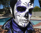 MADE to ORDER Purple Day of the Dead Ceramic Bust