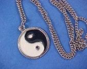 Yin Yang Medallion & Chain Necklace