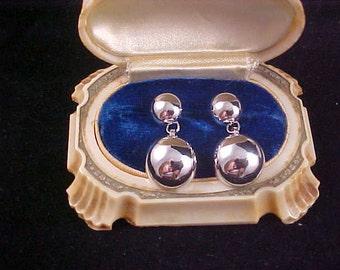 Silver Plated Dangle Post Earrings