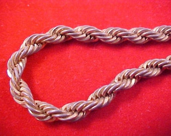 Reduced~ Vintage Signed  Gilt  Gold  BRAIDED Heavy  CHAIN BRACELET