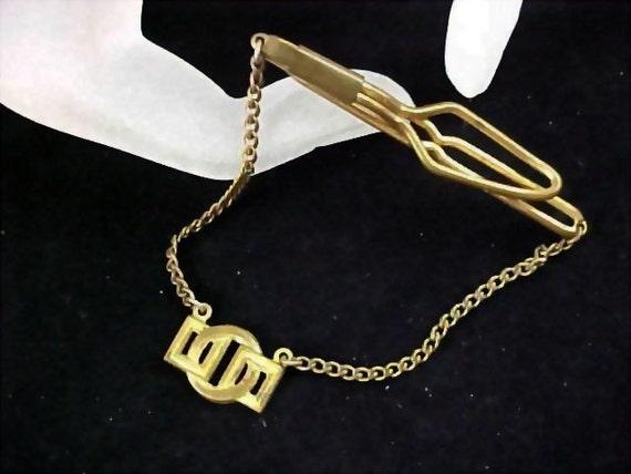 Geometric Modernist  Dangle Tie Clasp - Circa 1930's