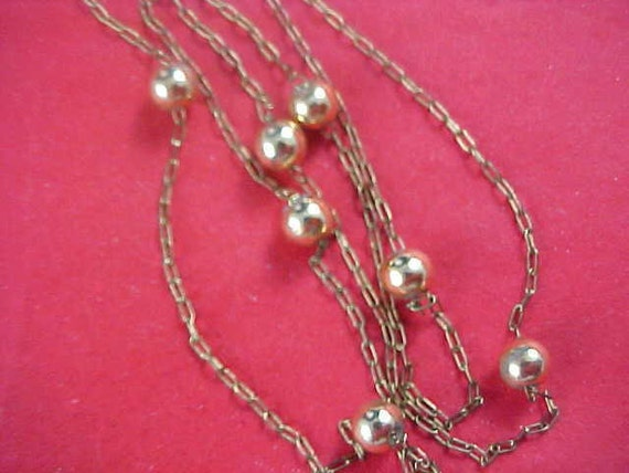 50% off today 8/18 - Dainty Gilt Gold Ball Bead Necklace