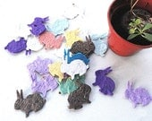 Seed Paper Easter Bunny Rabbits - Easter Party Favors, Unique Spring Gift Idea by Nature Favors