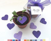150 Personalized Flower Seed Wedding Favors -  custom colors, tags by nature favors
