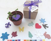 Personalized Flower Seed Wedding Favors -  custom colors, tags by nature favors