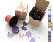 Seed Paper Favors Spring Wedding Favor Boxes - Personalized Flower Seed Wedding Favors - Deposit