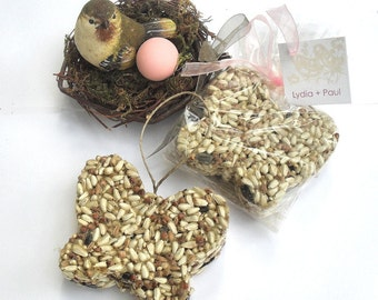 12 Bird Seed Bridal Shower Wedding Favors Personalized Tags by Nature Favors