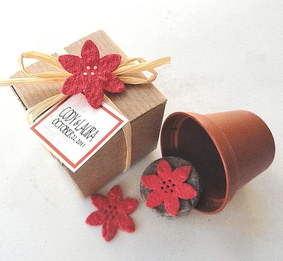 Christmas Wedding Favors: Flower Seed Flower Party Favors Winter Wedding Christmas
