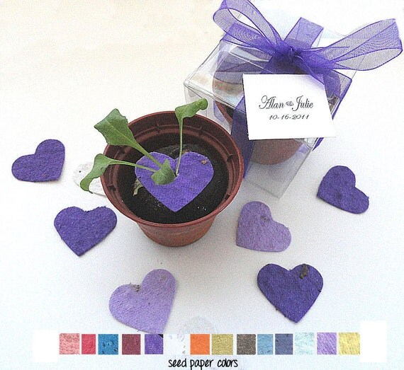 125 Personalized Flower Seed Wedding Favors -  custom colors, tags by nature favors