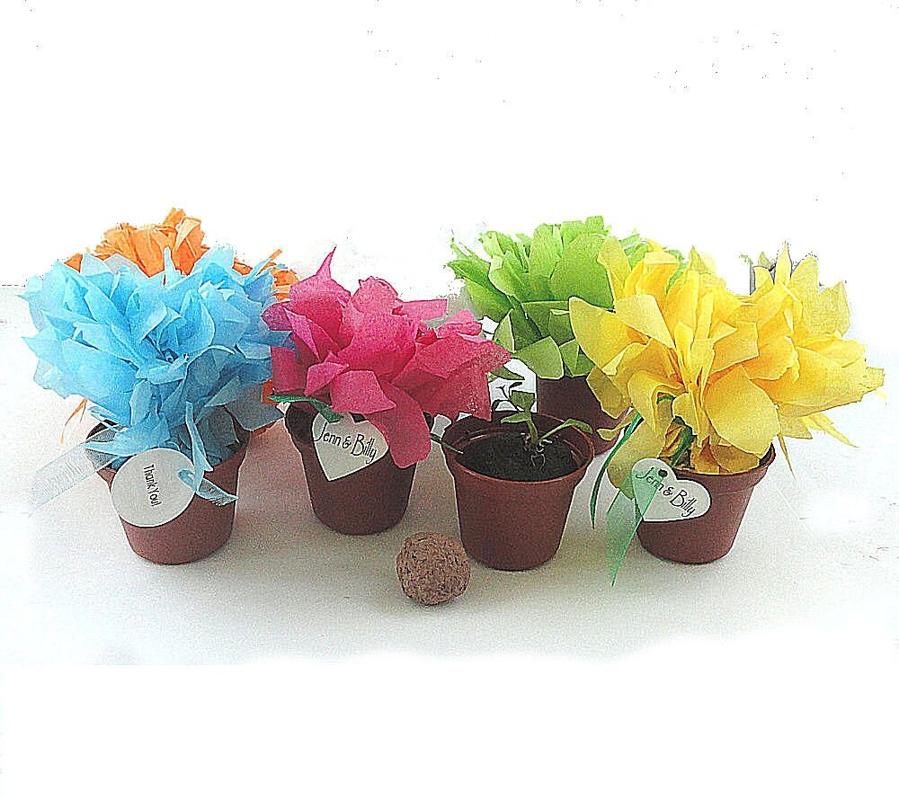 Wedding Flowers For Bridal Party: 25 Flower Seed Wedding Favor Flowers Table Decorations Bridal