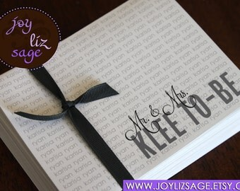 Newly Engaged Personalized Notecards - 20 Cards with envelopes