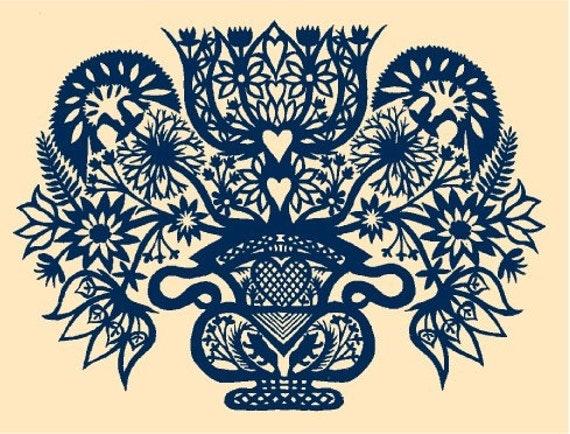 Flower Vase Silkscreen Print
