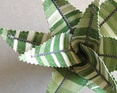 Fabric Leaf Potted Plant - Green Stripe Aloe Vera Succulent