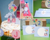 UP and Away DIY Party Printables, Balloon Birthday, Up Birthday, by MayDetails: Full Collection, Party Kit