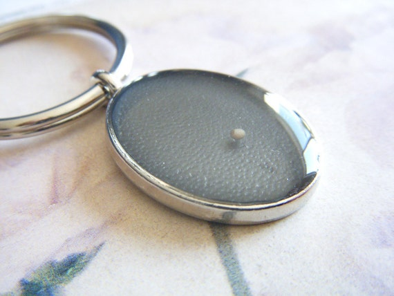 have a little faith... mustard seed key chain - resin oval keychain