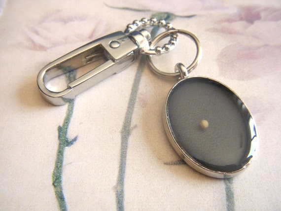 faith as small as a mustard seed - decorative oval resin mustard seed keychain key chain