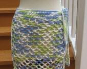 Crochet Pattern, Caribbean Breeze, swimsuit wrap, instant download available