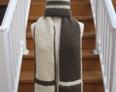 """Hot Chocolate and Vanilla Swirl, Hat and Scarf combo pattern  """" Crochet Pattern Pdf"""", Instant Pattern Download Available"""